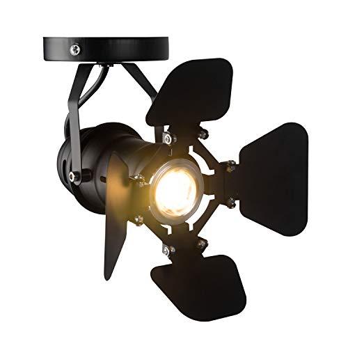 Hobaca® GU10 L19 * W17cm Mini Loft Proyector LED Luces de techo Luz de riel industrial Lámparas retro montadas en la superficie Iluminación para gabinete de exhibición de barra de café pequeña