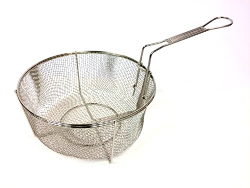 Bayou Classic 126 Nickel Plated Wire Mesh Fry Basket, 12