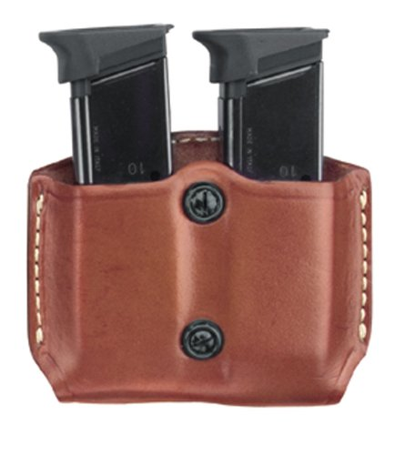 Gould & Goodrich 851-4 Gold Line Double Mag Case With Belt Loops (Chestnut Brown) Fits BERETTA Cougar (all); GLOCK 17, 19, 20, 21, 22, 23, 26, 27, 29, 30, 31, 32, 33, 34, 35, 36, 39; H&K USP 9, .357,.40,.45 (all); KIMBER Polymer; PARA-ORDNANCE P10, P12, P13, P14, P15, P16 (all); S&W Sigma (all EXCEPT .380), SW M&P .45; Springfield XD4 .40, .45, .357 by Gould & Goodrich (Usp 35)