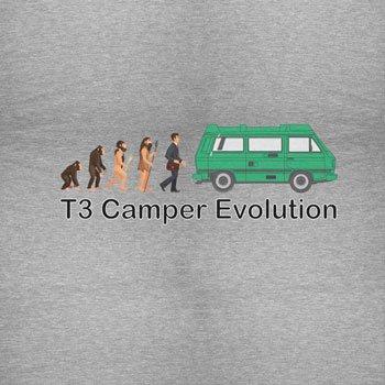 TEXLAB - T3 Camper Evolution Color Edition - Herren T-Shirt Grau Meliert