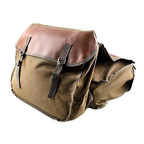 MOOUK Motorrad Packtasche, 1 Paar Leinen Fahrrad Satteltasche Motorrad Seite Satteltaschen Motorrad Seite Gepäck Tasche für Außen- Fahrrad Reise - Braun, Einheitsgröße