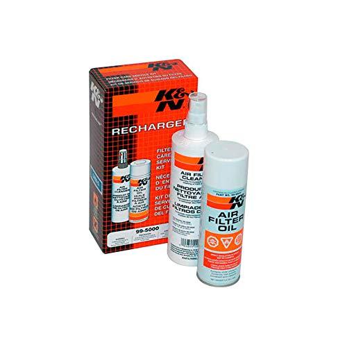 K&N 99-5003EU Kit de Limpieza y Mantenimiento del Filtro de Aire Coche y Moto