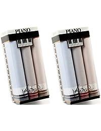 Betz 6 Stück Herren Stoff Taschentücher Doppelpack (2x3 Stück) in der Geschenkbox 100% Baumwolle Dessin 7
