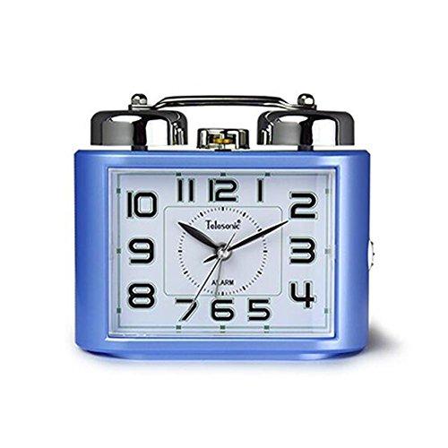MOYI-087 Despertador/Reloj Despertador Aluminio Ronda