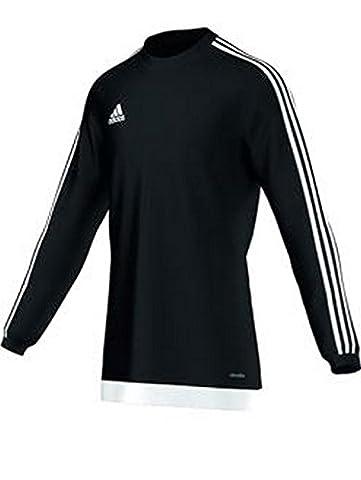 Adidas Estro 15 Maillot à manches longues pour garçon, Homme, Estro 15 L, Black/White/Negro/Blanco