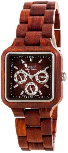 Tense Mens Adventure Summit Square Sandalwood Wood Watch B7305R DF
