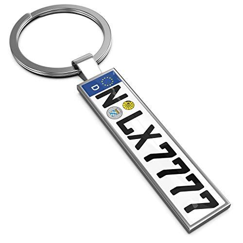 LEXTRADY Schlüsselanhänger in Premium Qualität mit KFZ Kennzeichen Autoschilder Wunschkennzeichen Wunschtext für Auto Nummernschild Geschenk personalisiert - Meine Amazon-verkäufer-konto