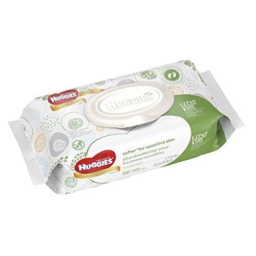 Huggies Natural Care Unscented Baby Wipes Soft Pack - 56ct