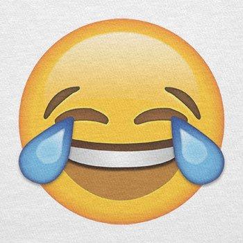 Texlab–Tears Of Joy Emoji–sacchetto di stoffa Bianco