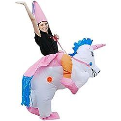 DMMASH Adulto Unicornio Inflable Disfraz De Halloween De Disfraces De Fiesta Cosplay