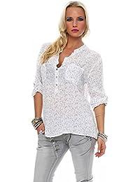 Zarmexx Feine Viskosebluse Hemdbluse Fischerhemd Regular Fit Leichte  3 4-Arm Sommerbluse Tunika Zart… 998bd106f9