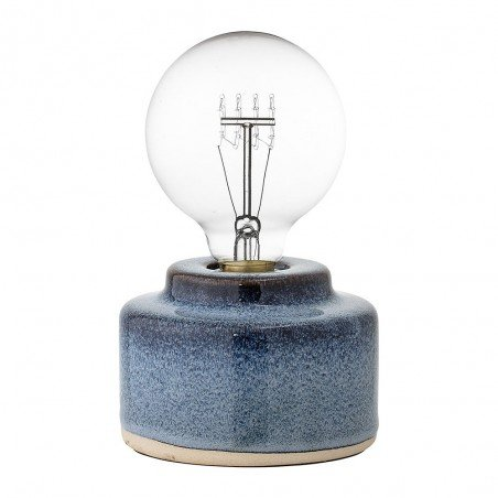 Lampe de Table en Porcelaine Bleue