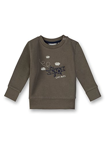 Sanetta Baby-Jungen Sweatshirt Grün (Leaf 4392.0), 62