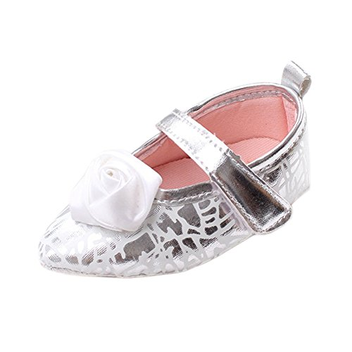 Leap Frog  Point Toe Mary Jane, Baby Mädchen Lauflernschuhe Silber