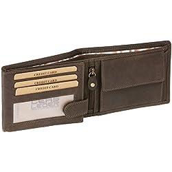 9e55f4dd5 Cartera para señores Monedero para señoras con cierre de cremallera Vintage-Style  LEAS MCL,