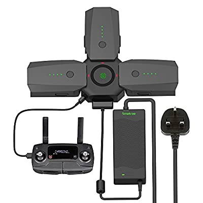 Smatree 80W Rapid Battery Charger (UL Listed) and 4 in 1 Charging HUB for DJI Mavic Pro