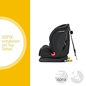 Maxi-Cosi Titan mitwachsender Auto-Kindersitz 9-36 kg mit Isofix und Liegeposition, nutzbar ab 9 Mon. bis 12 J., Nomad Black (schwarz)
