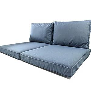 """Nordje Palettenkissen Outdoor Comfort Duo"""" mit wasserabweisenden Bezug bestehend aus 2 Sitzkissen 60x80cm und 2…"""