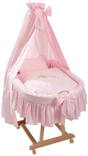 Easy Baby 485-82 Sleeping Bear Parure de berceau Motif ourson endormi Rose