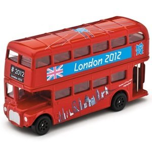 """Image of corgi 2012 great british classics """"I WAS THERE"""" olympic red london bus diecast model,"""