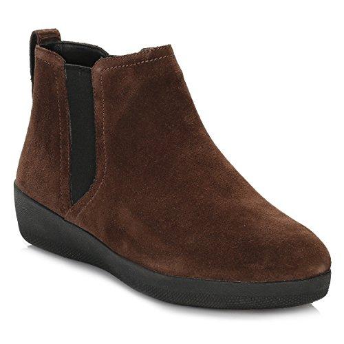 FitFlop Superchelsea Tm Boot, Baskets Hautes Femme Chocolat