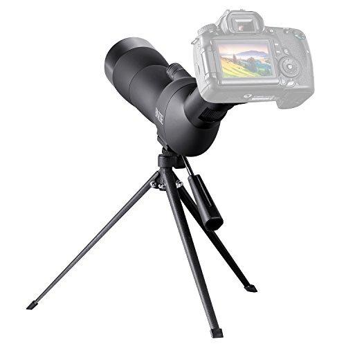 BNISE Telescopio Terrestre, de Observación de Aves, Objetivo de 60mm de Ancho, amplificación de 20-60 Veces, trípode y Accesorios de fotografía, Aptos para la observación de Aves, Caza y para apuntar
