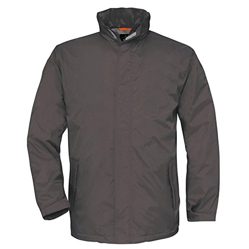 B&C Collection Herren Modern Jacke Dunkelgrau