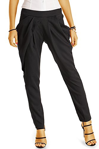 Kostüm Frankreich Weiblich (Bestyledberlin Damen Hosen, Bundfalten Stoffhosen. Elegante Pluderhosen j17f)