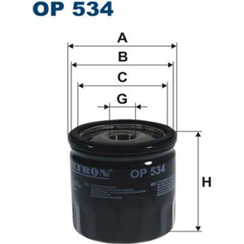 Preisvergleich Produktbild FILTRON OP534 Ölfilter
