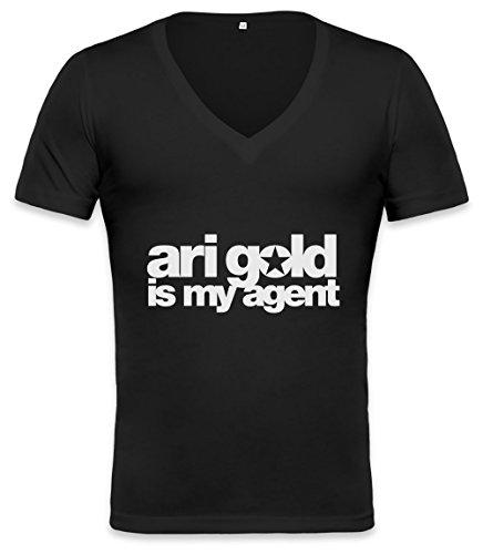Ari Gold Is My Agent Unisex Deep V-neck T-shirt XX-Large (Tuxedo Gold)