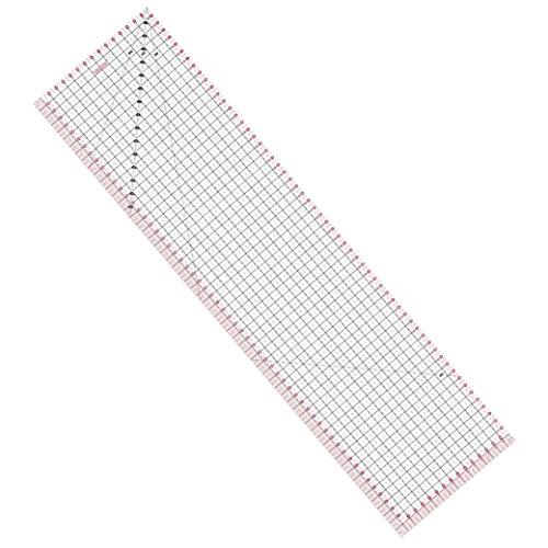 Fiskars Lineal 15 x 60 cm, Optimal für Patchwork, Verschiedene Formen, Acryl, 1003898