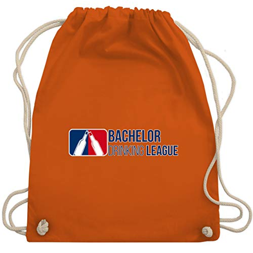 (JGA Junggesellenabschied - Bachelor Drinking League - Unisize - Orange - WM110 - Turnbeutel & Gym Bag)