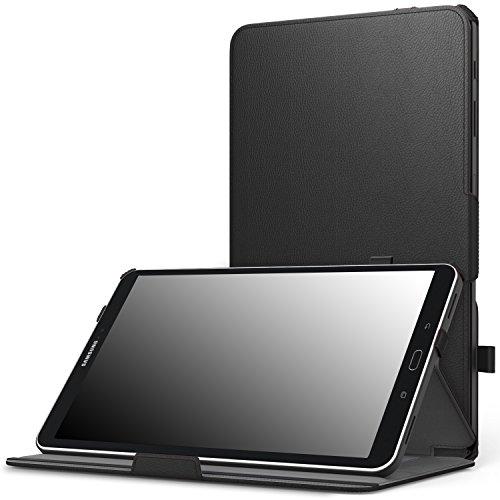 MoKo Samsung Galaxy Tab A 10.1 Hülle - MoKo Slim-Fit PU Leder Schutzhülle Smart Case mit Stift-Schleife / Standfunktion und Auto Sleep / Wake Up Funktion für Samsung Galaxy Tab A 10.1 Zoll (2016) Wi-Fi/ LTE T580N / T585N Tablet-PC, Schwarz