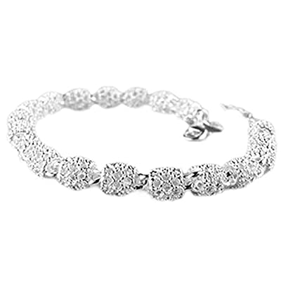 Hosaire 1X Fashion Bracelet Crystal Charm Silver Plated Chain For Womens Girls Party Jewellery