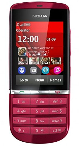 Nokia Asha 300 Red Rosso Touch Screen tastiera sim-free