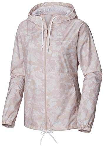 Columbia Wasserdichter Windbreaker für Damen, FLASH FORWARD PRINTED, Polyester, Rosa (Mineral Pink Camo Print), Gr. M, 1610911