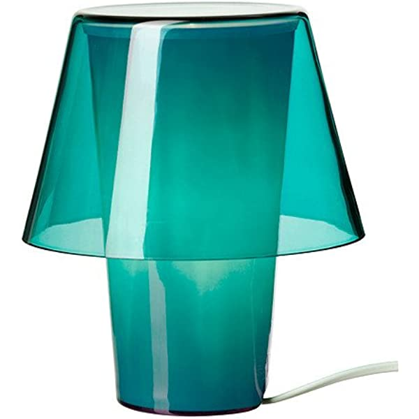 Ikea Gavik Lampada Da Tavolo Blu Vetro Ghiacciato Amazon It Casa E Cucina
