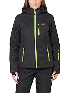 Ultrasport Women's Softshell Jacket Serfaus with Ultraflow 10.000 - Black, X-Small