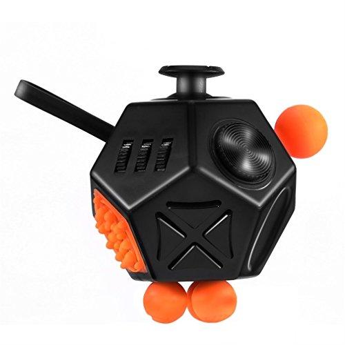 Preisvergleich Produktbild GraceU  Fidget Cube ,Schwarz / weiße Würfel 12 Seiten Anti-Angst und heilige Kristall Depression Zauberwürfel Spielzeug für Kinder und Erwachsene magischer Würfel