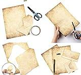 Depory 60 hojas Papel con diseño de papel antiguo Carta Pergamino Vintage Din A4 100g/m² DIY