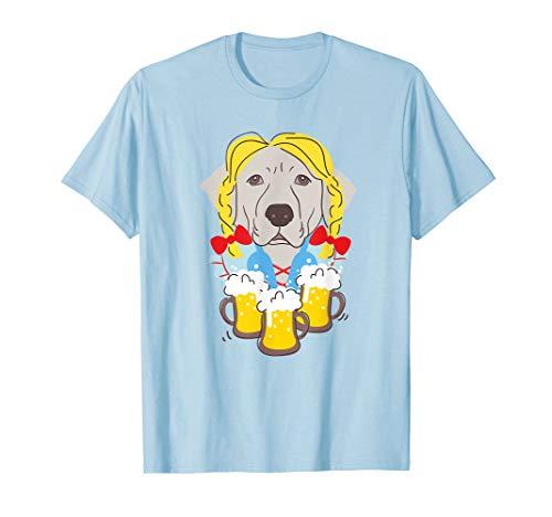 Labrador in Deutsch Dirndl-Kostüm Lustige Oktoberfest T-Shirt