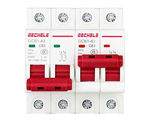 OIASD DZ47 Typ 2P3P Interlock Leistungsschalter Interlock Luftschalter Haushalt kleine Dual Power Automatic Transfer Switch, 63A