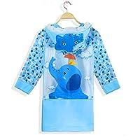 Hapyshop Paradise Bird Fashion Children Raincoat Waterproof Toddler raincoa Multicolour 1pack Blue Elephant,M