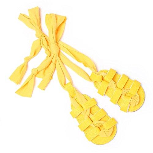 Bzline® Krippe Kleinkind Mädchen Sandalen Bandagen Cross gebundene Prewalker Schuhe Baby Gelb Snw6wYrFq0