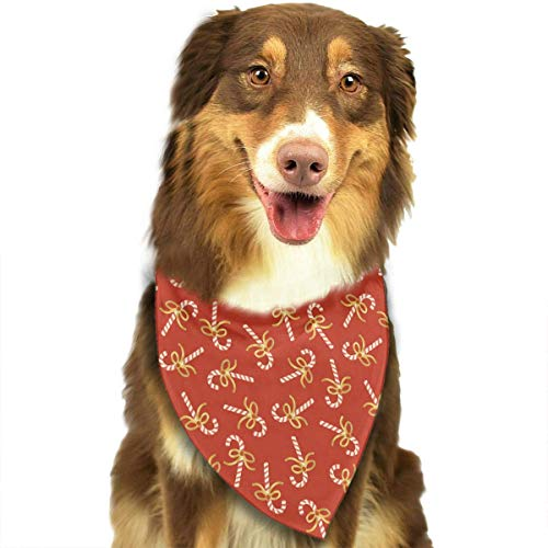 nxnx Red Candy Lollipop Bow Sweets Triangle Bandana Scarves Accessories for Pet Cats and Dogs - - Arm Candy Kostüm