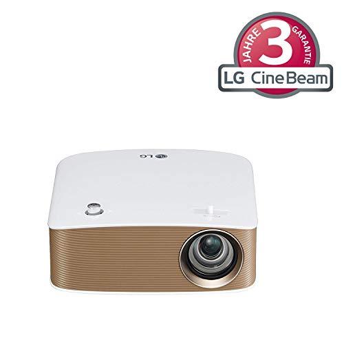 LG PH150G Mini Proiettore Portatile per Ufficio e Tempo Libero, Risoluzione HD 1280x720, Speaker Integrati, USB, HDMI, RGB, Wireless, Batteria Integrata 2.5 Ore, 130 ANSI Lumens