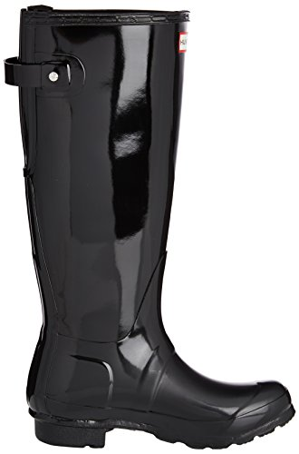 Hunter  Original Back Adjustable Gloss,  Damen Stiefel Schwarz