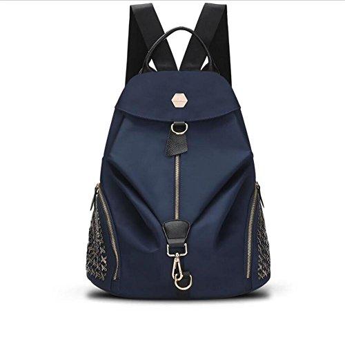 HQYSS Damen-handtaschen Frauen Nylon große Kapazitäts-einfache wilde beiläufige Rucksack-feste justierbare wasserdichte Schulter-Beutel-Crossbody Beutel blue