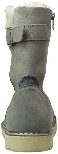 Birkenstock Damen Westford Kurzschaft Stiefel Grau (Light Grey Lammfell)