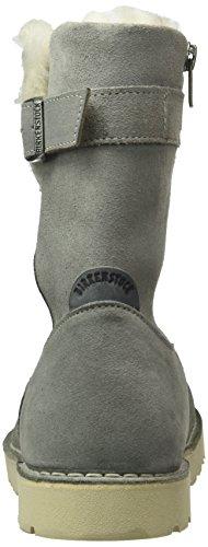 Birkenstock Westford Damen, Bottes mi-hauteur avec doublure chaude femme Gris - Grau (Light Grey Lammfell)